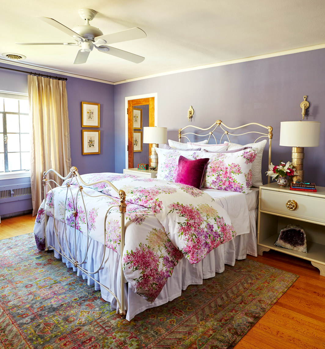 Brass-Bed-Flowers-Lavender