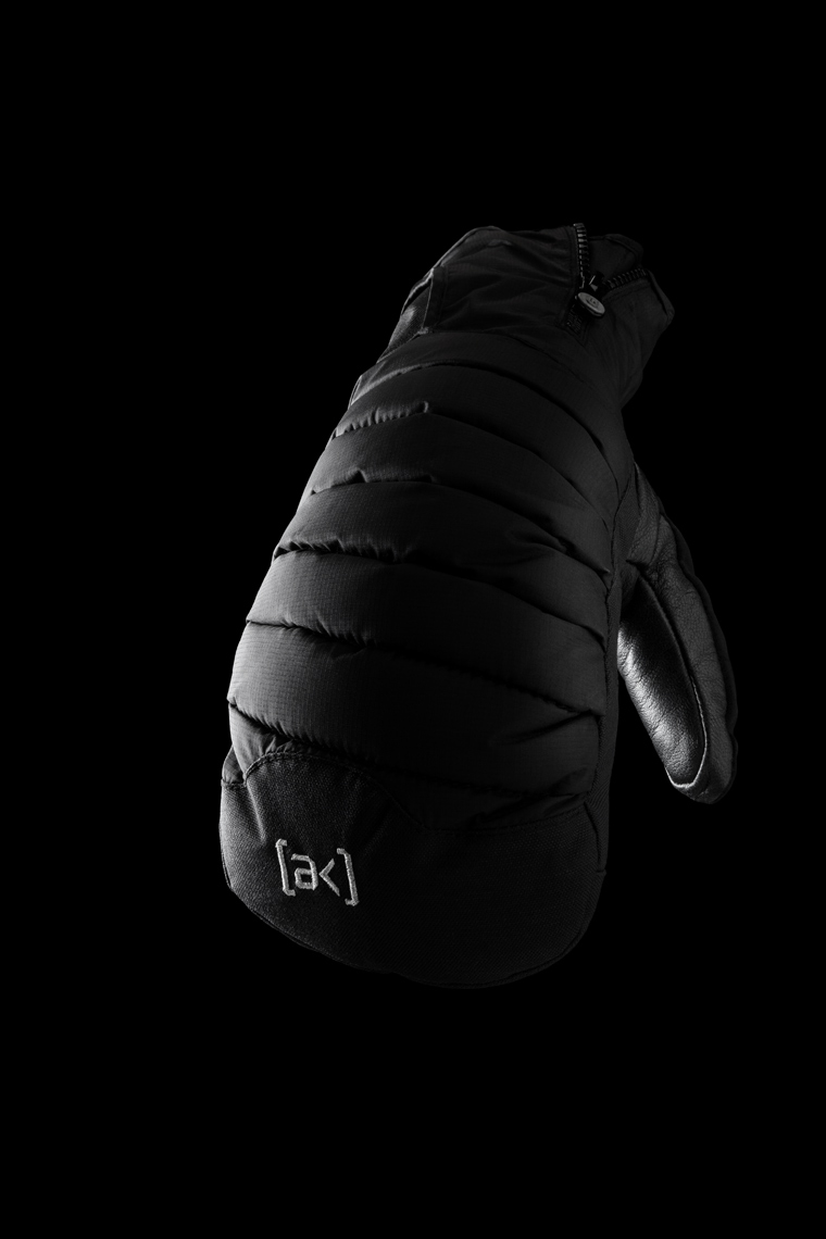 Product Photography Gear Burton AK Mitten Ski Snowboard Winter Sport Floating Space Black on Black Denver