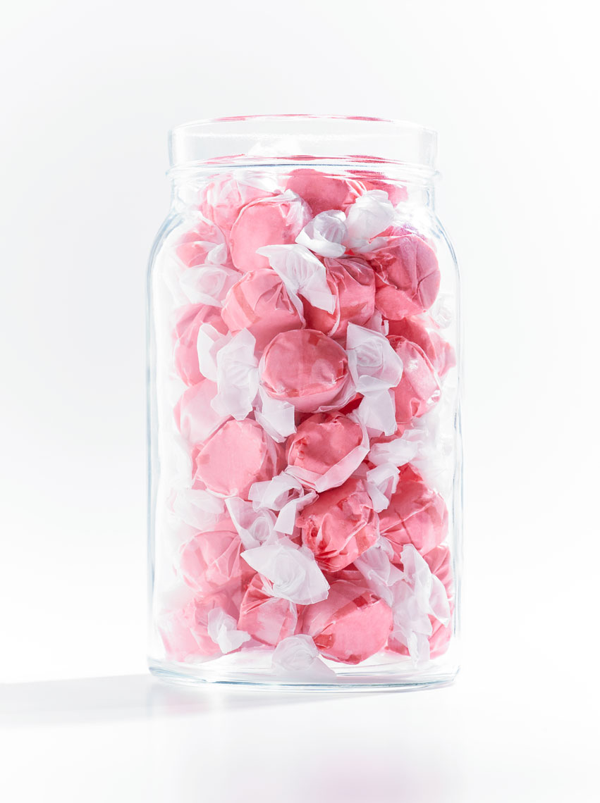 Product Photography Still Life Candy Jar Pink Shot in Studio Denver