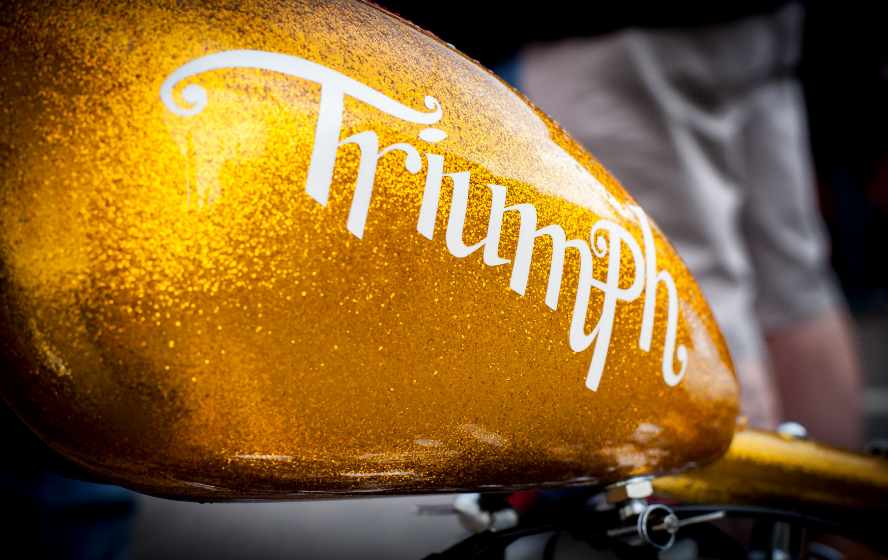27 Location Photography Custom Motorcycle Builderes Denver Colorado FTW Triumph Gold Sparkle
