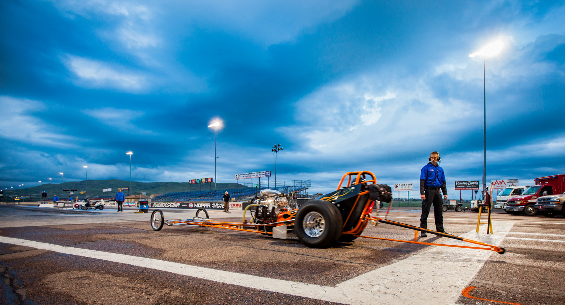 12 Location Photography Bandimere Speedway Denver Colorado Motorcyle NHRA Dragtrack Dragstrip Lineup