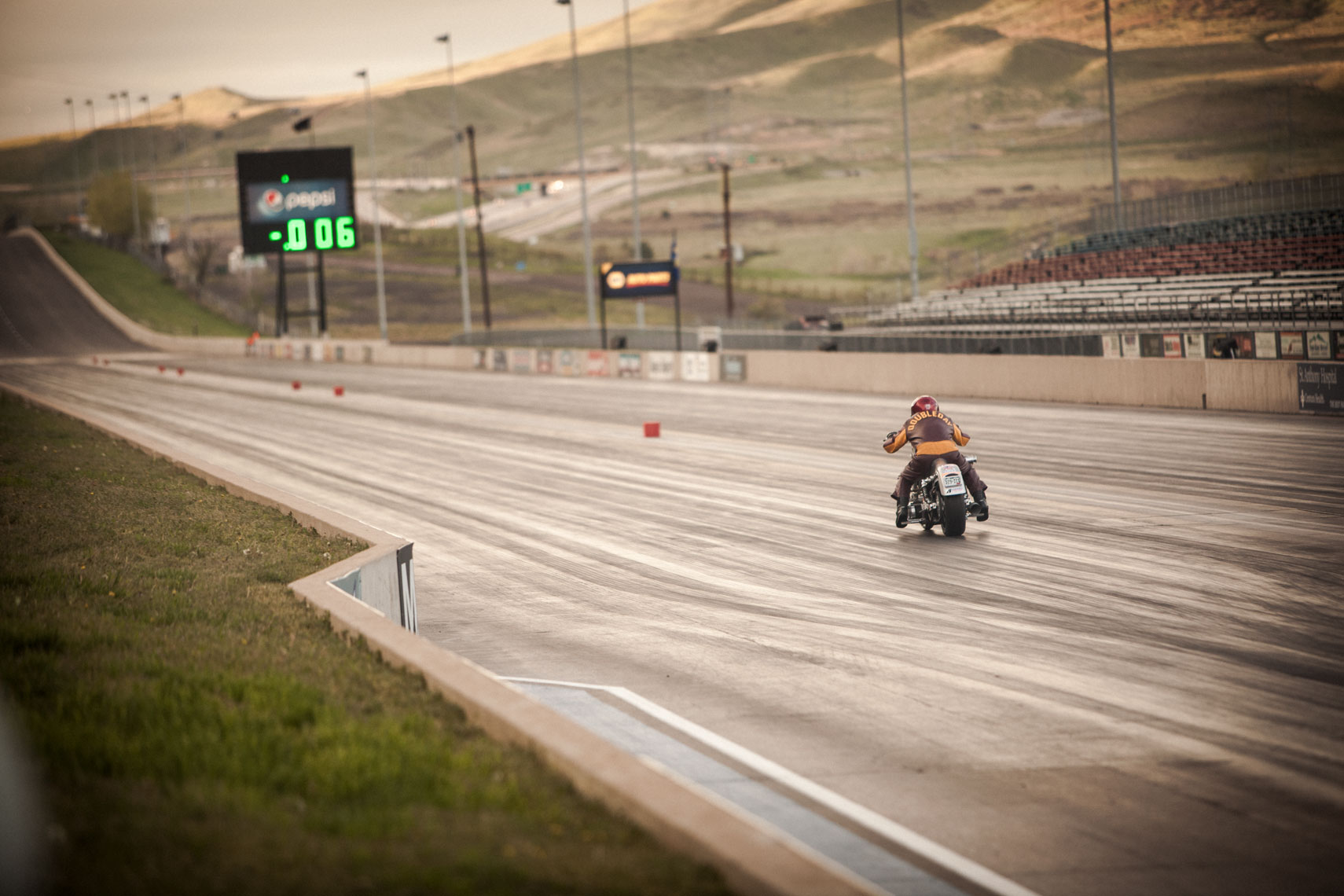 05 Location Photography Hammer Down Run Bandimere Speedway Denver Colorado Motorcyle NHRA Dragtrack