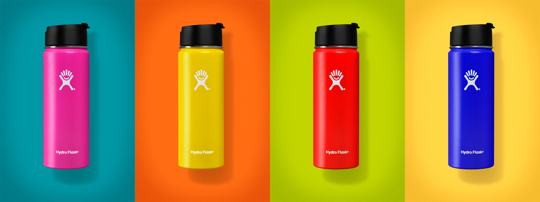 Dan Schrock Product Photographer Still Life Hydro Flask Multi Color Study in Studio Denver