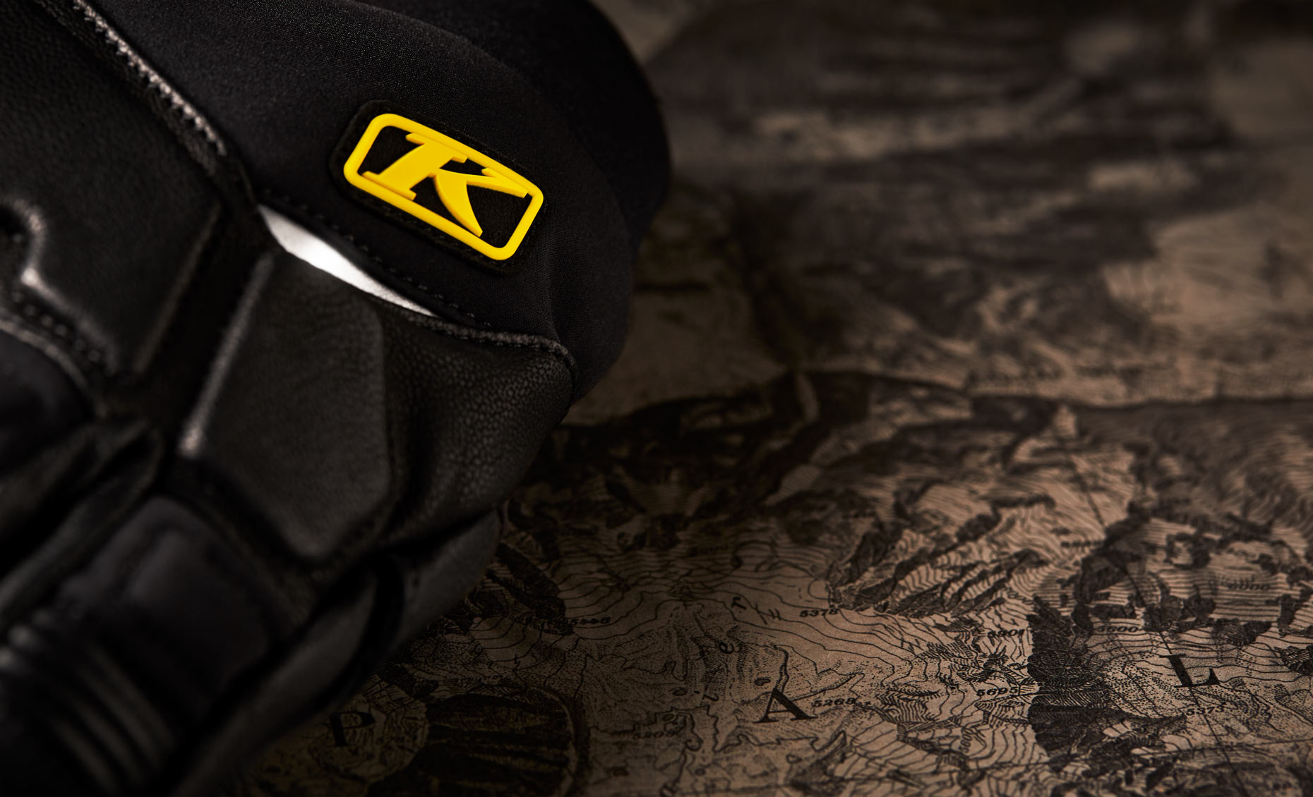 Product Photography Gear KLIM Adventure Riding Motorcycle Windstop Gloves Logo Denver