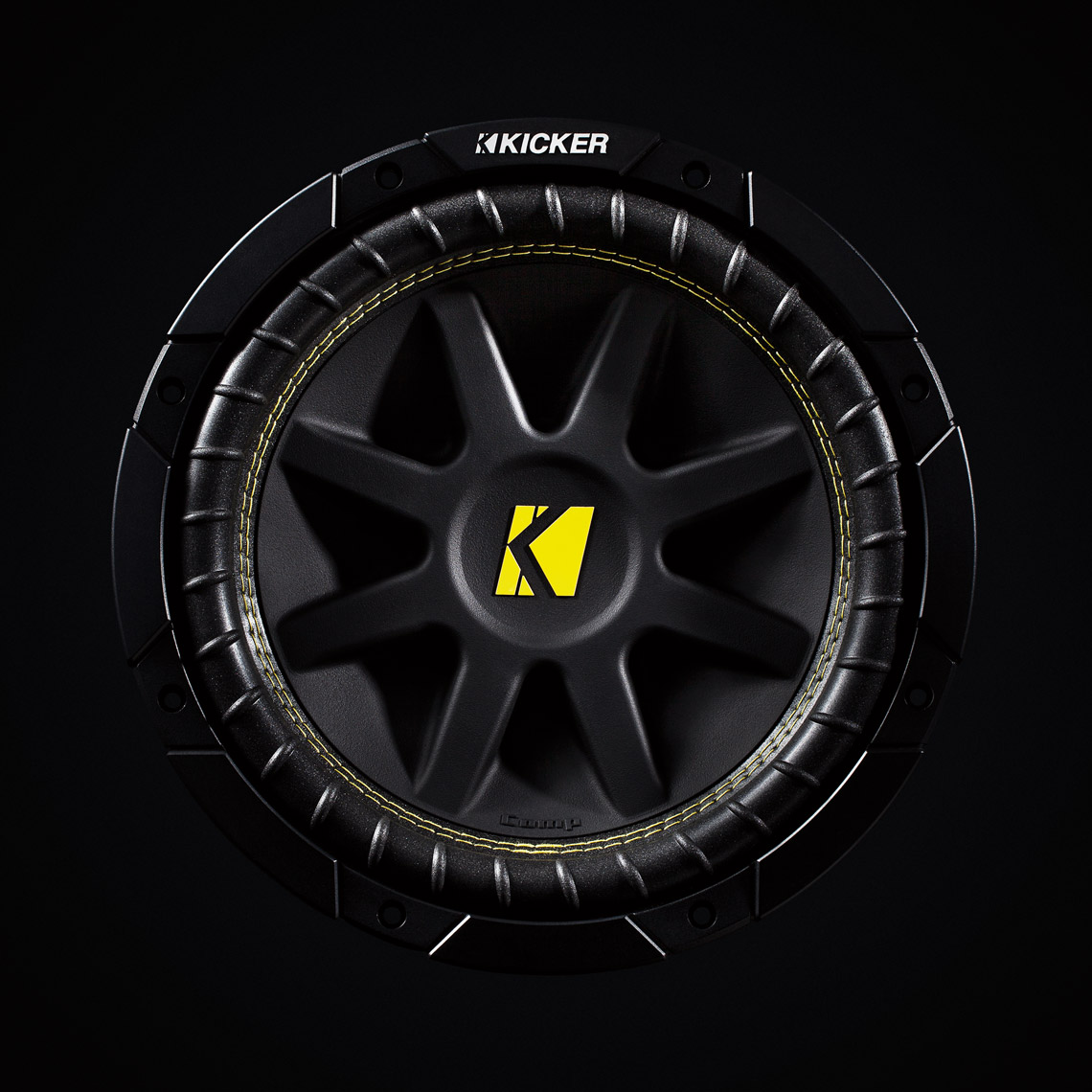 Product Photography Gadgets Kicker Subwoofer Detail Beauty Shot for Car Audio Denver