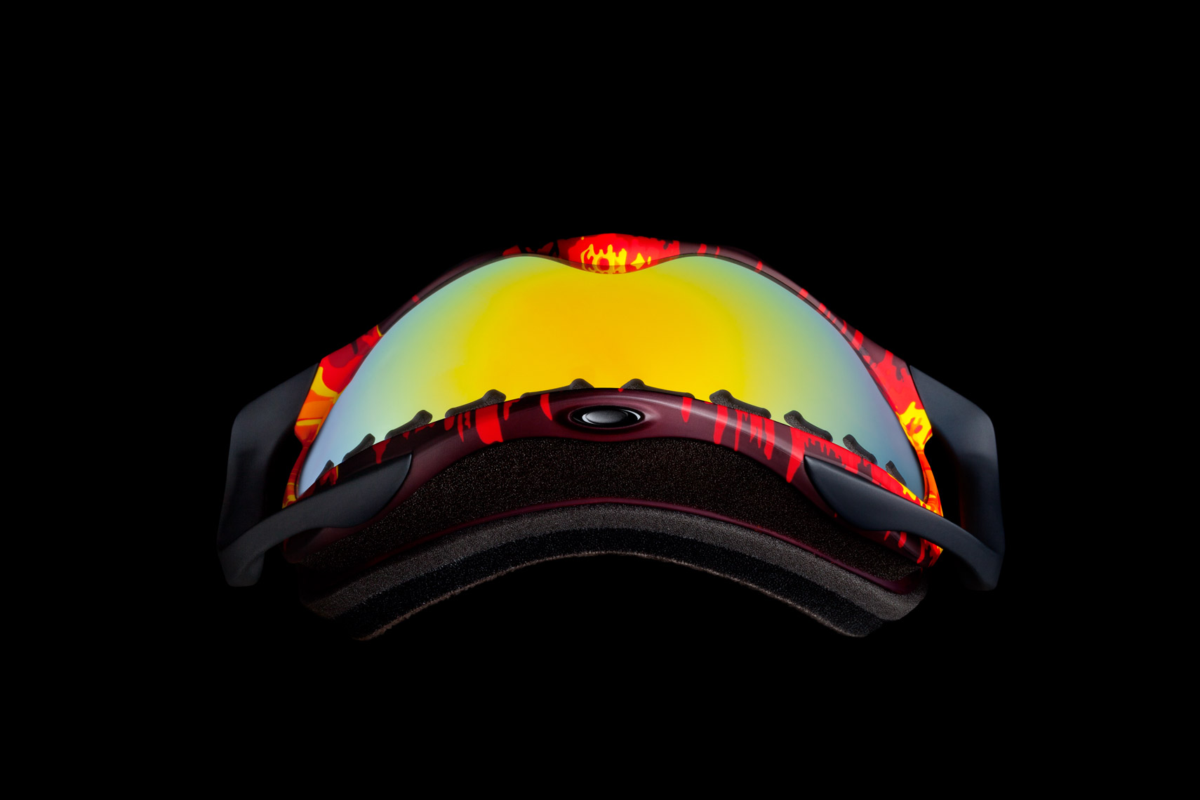 Product Photography Gear Oakley Flightdeck Snow Goggles Winter Sport Melting Red Yellow Orange Beauty Lens Denver