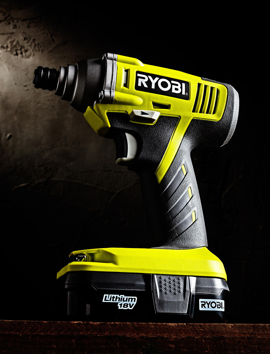 Ryobi Impact Wrench Hero Shot Saftey Green