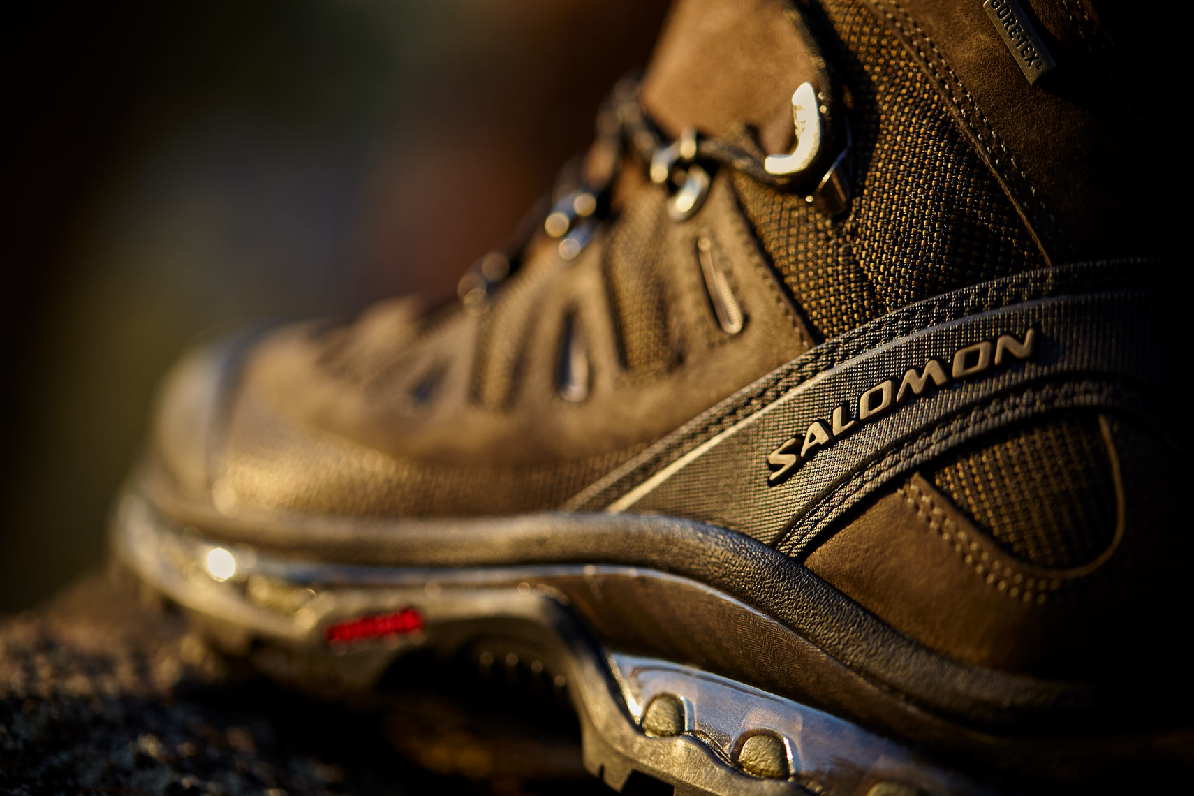 Product Photography Gear Salomon GTX Boot Hiking Backpacking Adventure Outdoor From REI Denver