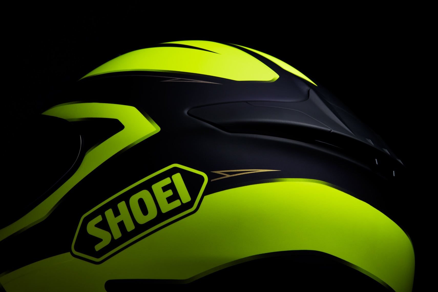 Product Photography Gear Shoei Road Racing Street Helmet Detail Saftey Yellow Green Denver