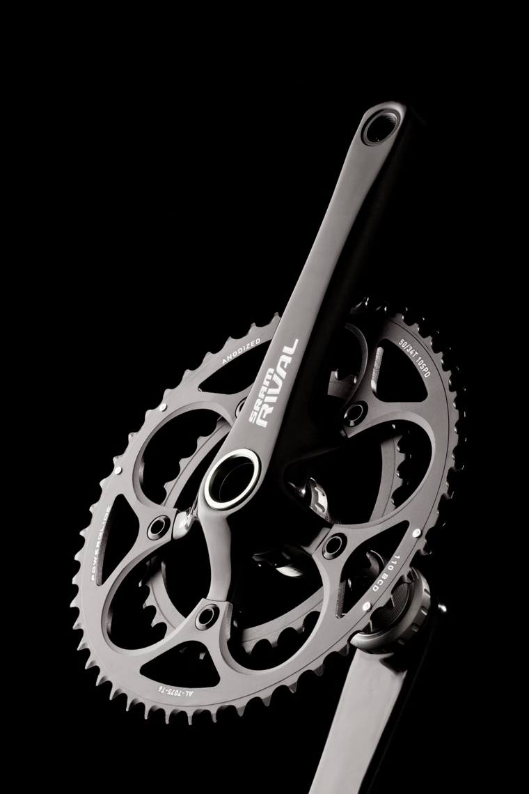 Product Photography Gear SRAM Front Crank Sprocket Beauty Detail Black on Black Denver