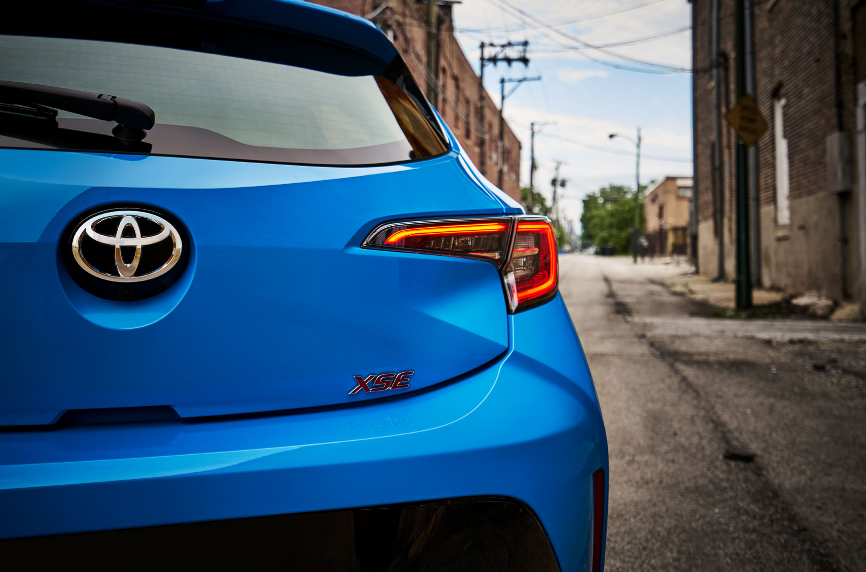 Location Photography Toyota Corolla XSE Rear Chicago Alley