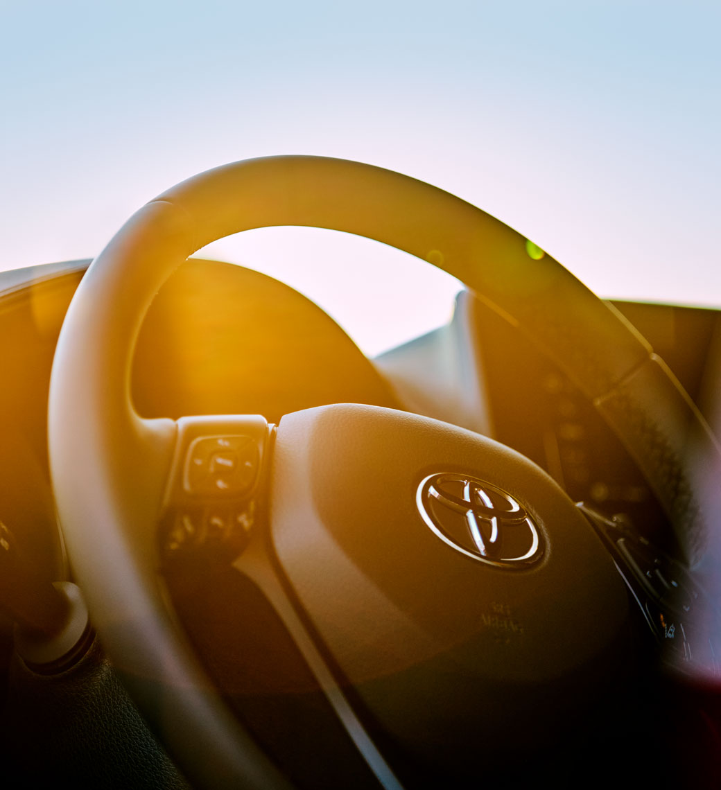Location Photography Toyota CHR Steering Wheel Chicago Lakeshore