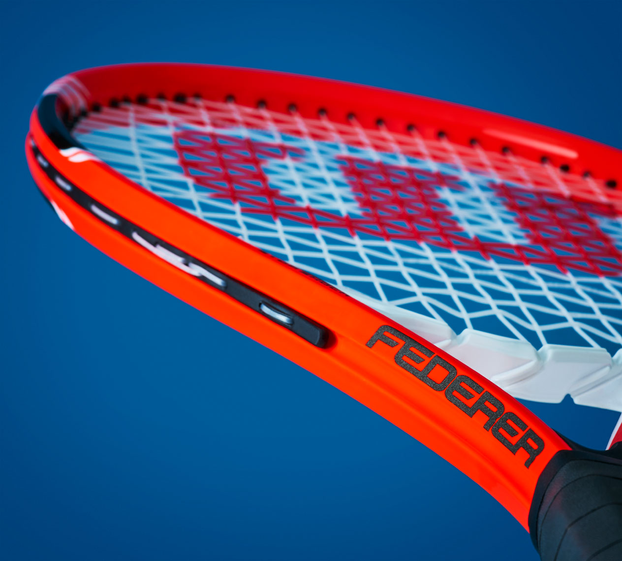 Dan Schrock Product Photographer Gear Wilson Federer Adult Tennis Rackets Red on Blue