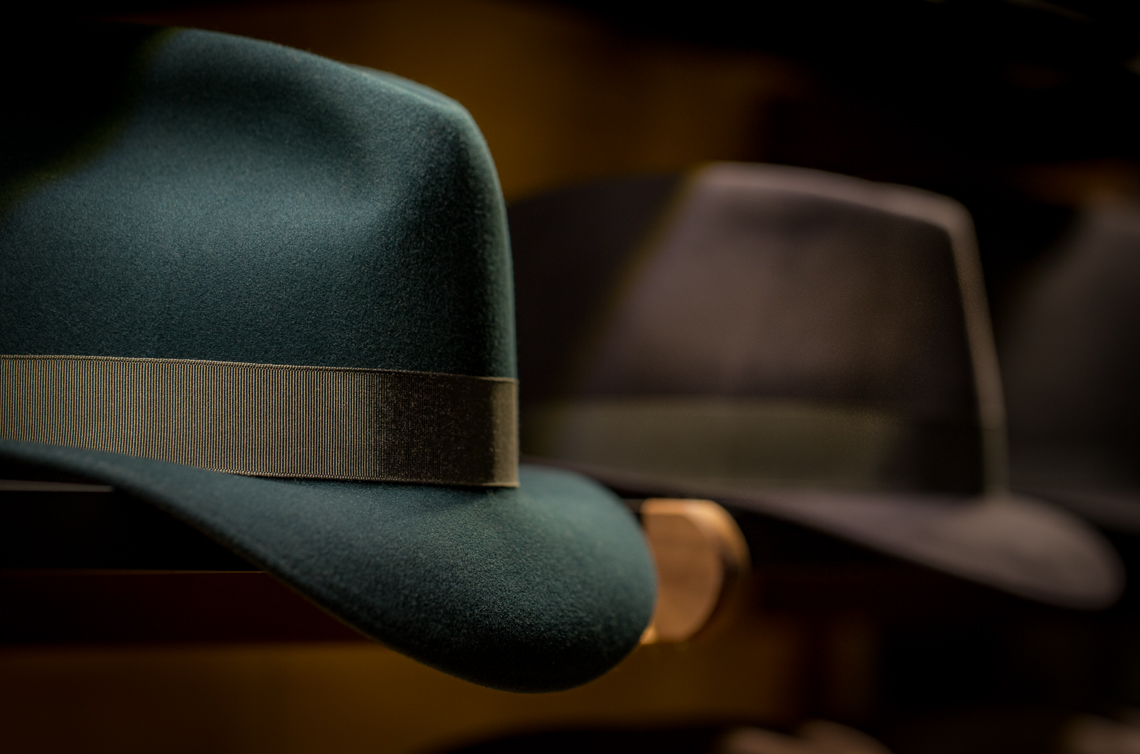 07 Optimo Hats Chicago Fedora Graham Thompson Best Hats Made Monadnock Green Fedora