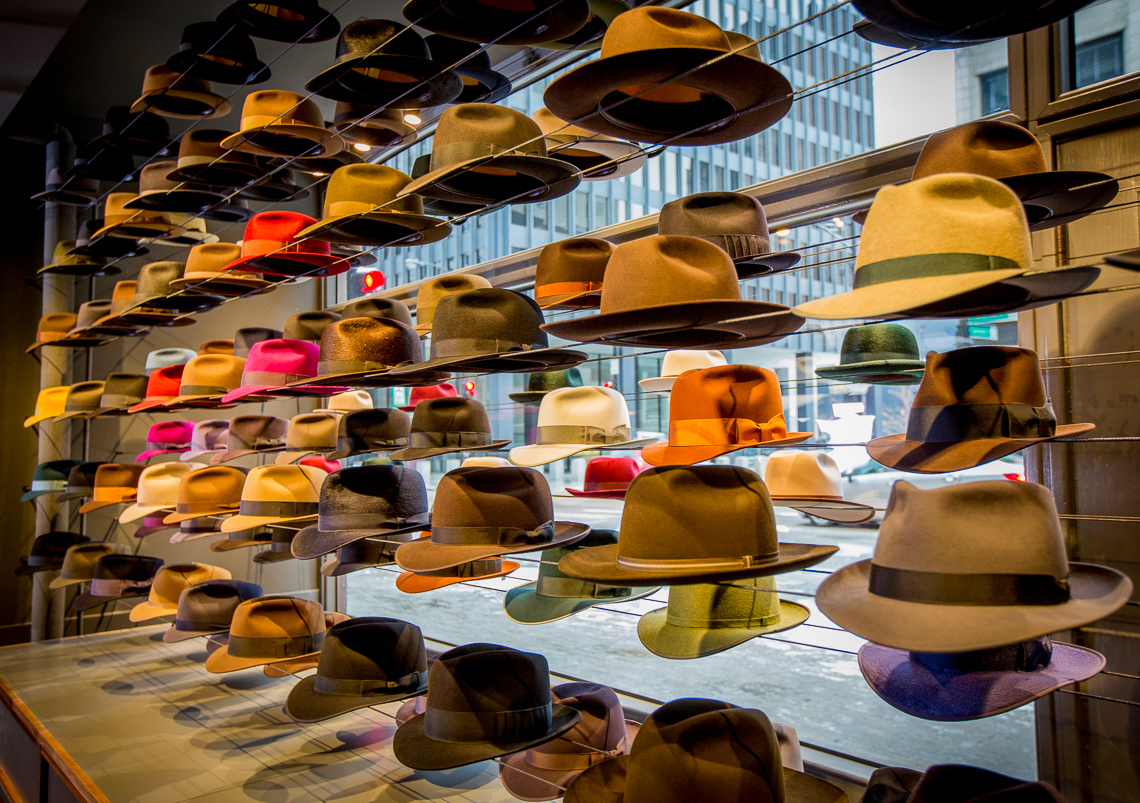 14 Optimo Hats Chicago Fedora Graham Thompson Best Hats Made Monadnock Store Window