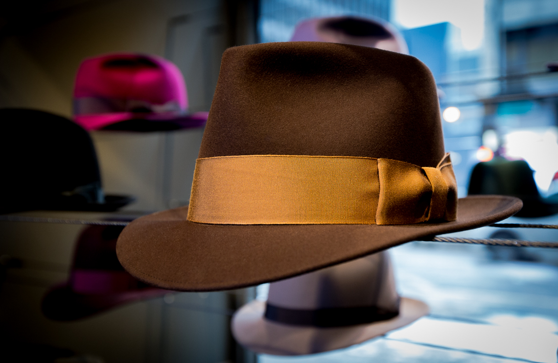 05 Optimo Hats Chicago Fedora Graham Thompson Best Hats Made Monadnock Fedora